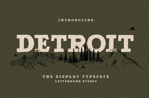 Detroit slab serif