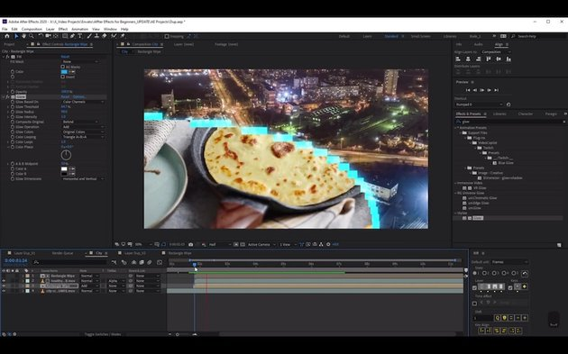 Using layers to create simple animation in After Effects