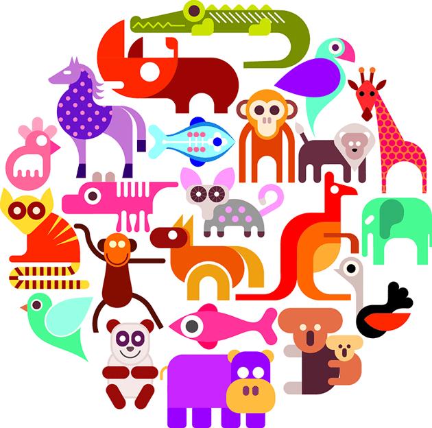 Wild animal illustration