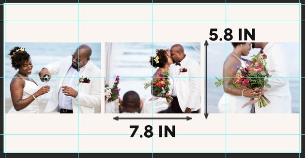 layout variation with three photos