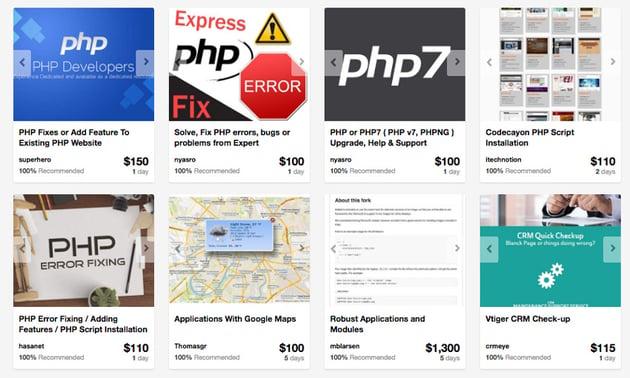 PHP developers on Envato Studio