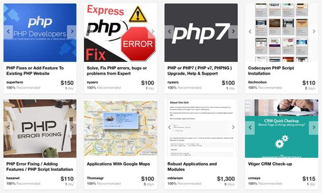PHP service providers on Envato Studio