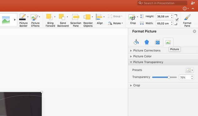 Changing Picture Transparency in PowerPoint