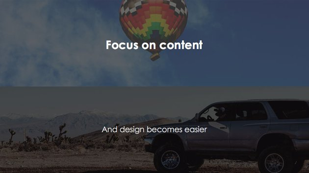Content First Not Presentation Design First