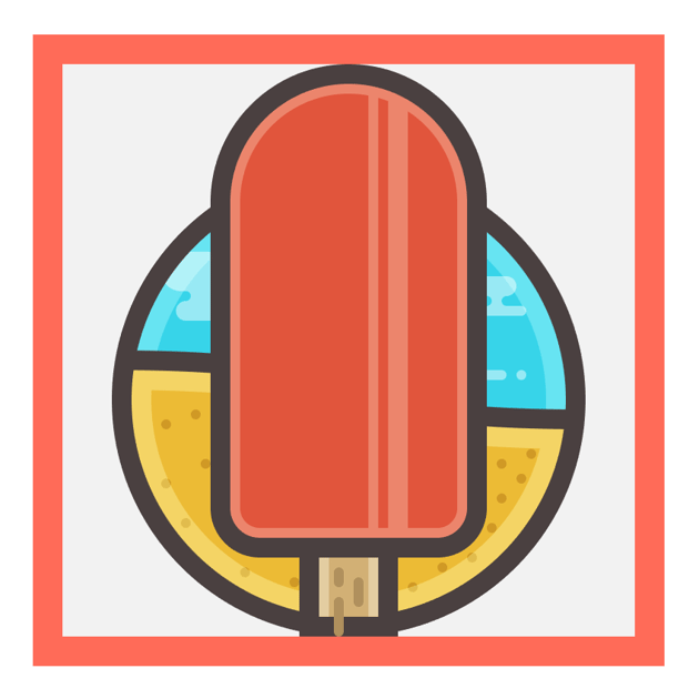 adding a subtle line texture to the ice creams stick