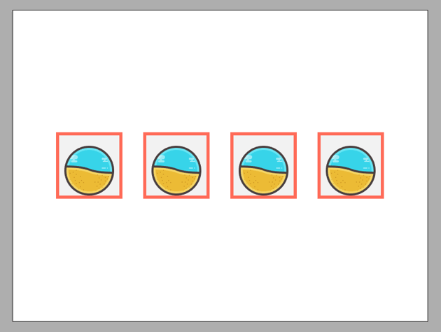 positioning the blank icon copies onto the remaining reference grids