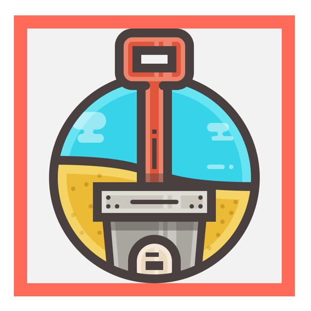 sand bucket icon finished