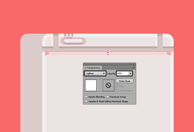 adding a subtle highlight underneath the devices horizontal divider