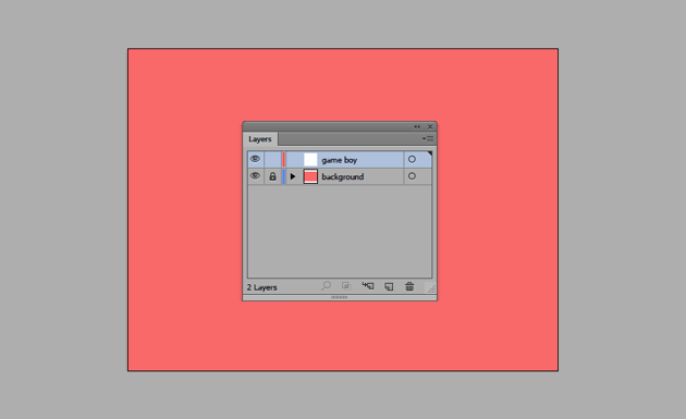 using the layers panel to lock the background