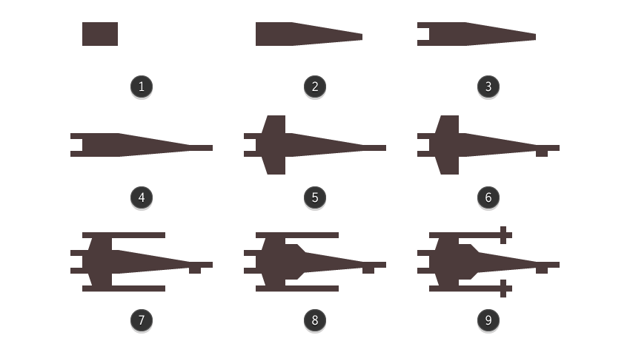 creating the x-wing