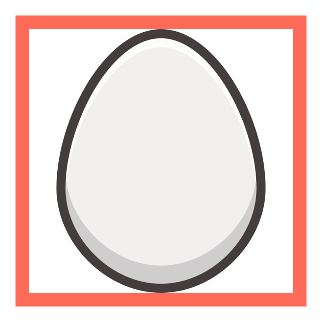adding the highlight and shadow to the egg icon