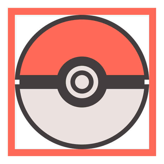 adding the main fill shape for the poke balls button