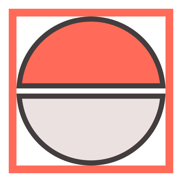 creating the lower half of the poke ball