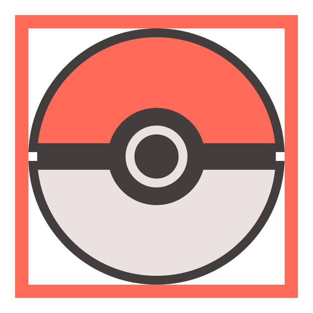 creating the main outline for the poke balls button