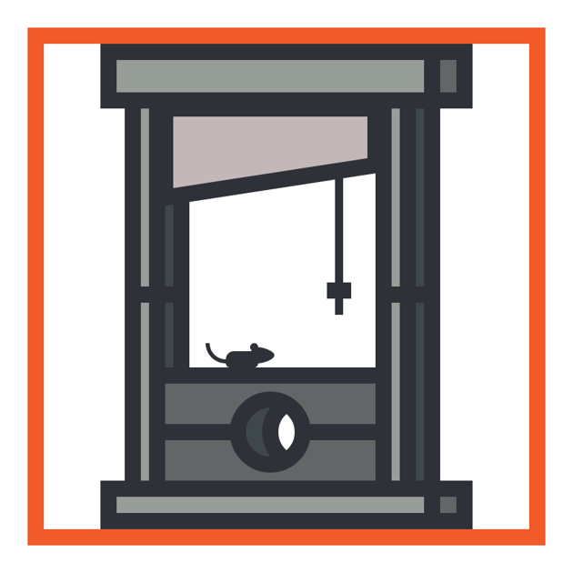 creating and positioning the rat onto the guillotine icon