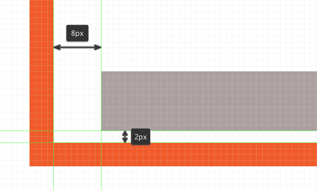 example of using the pixel preview mode to position the shapes