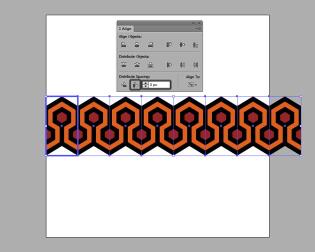 creating the patterns first row of repeating elements