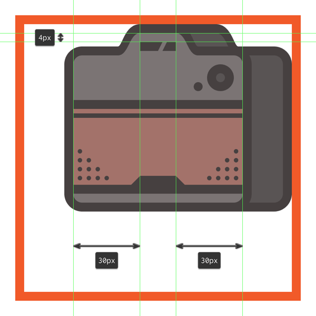 adding the brand dummy text line onto the front section of the camera