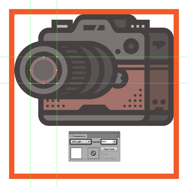 adding the outer reflection to the cameras lens