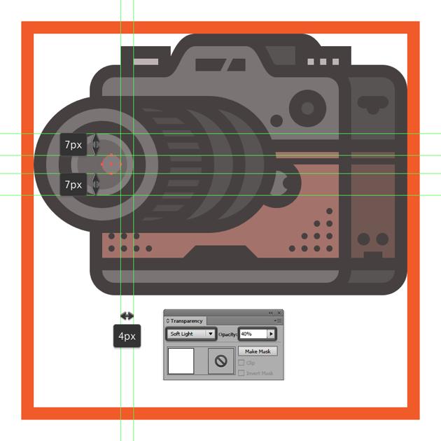 adding the small circular reflection to the cameras lens