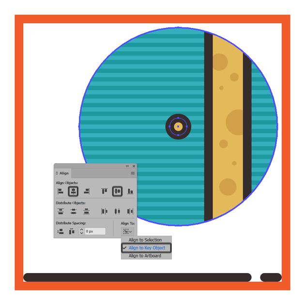 adding the center handle to the circular presents boxs body