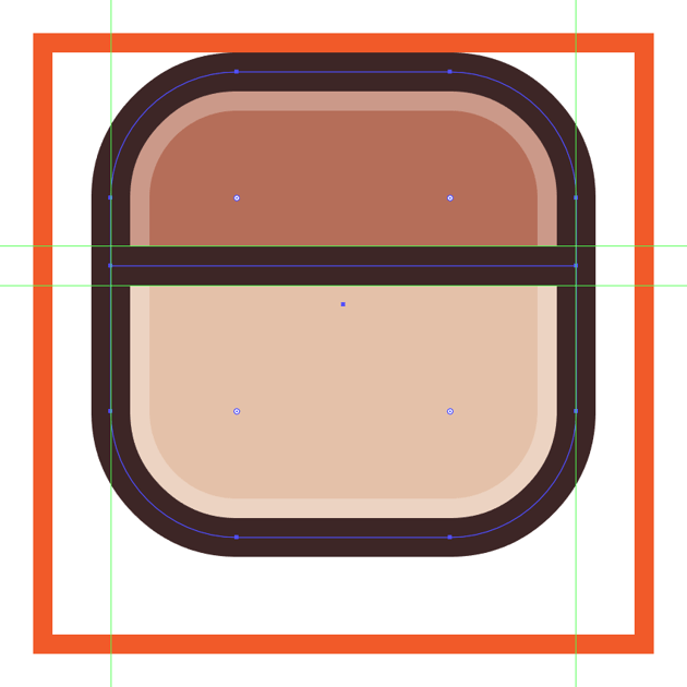 adding the horizontal divider line to the instagram icons body