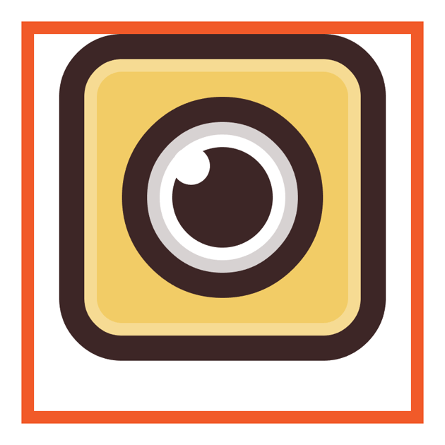 adding the outline to the snapchat icons eye