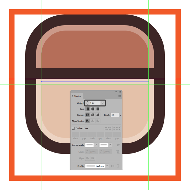 adding the subtle highlight from underneath the instagram icons horizontal divider line