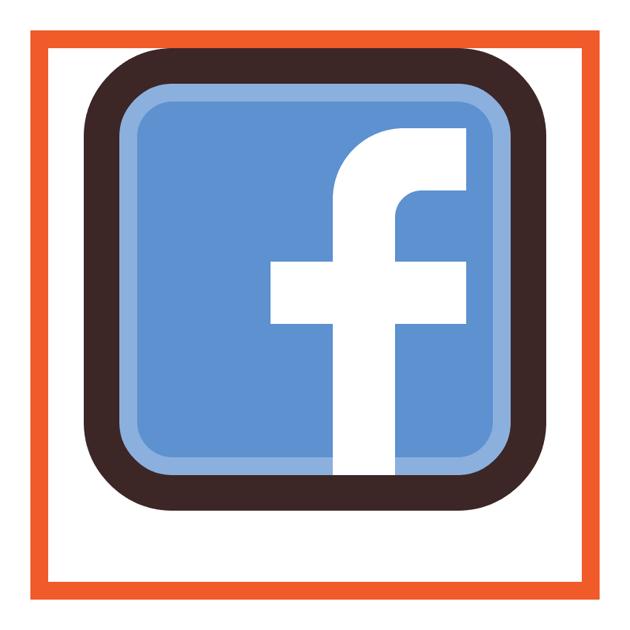 adjusting the facebook icons letter second corner