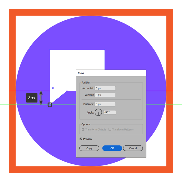 adjusting the shape of the messaging icons left text box