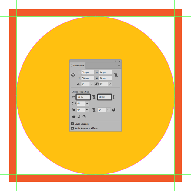 creating and positioning the main shape for the alarm icons background