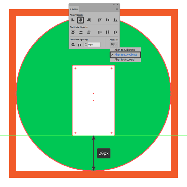 creating and positioning the main shape for the battery icons body