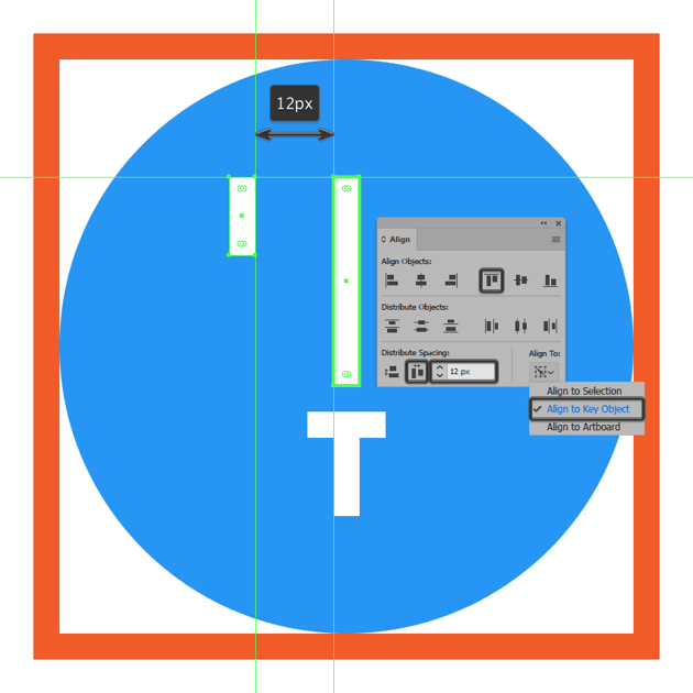 creating and positioning the main shape for the left sliders upper section