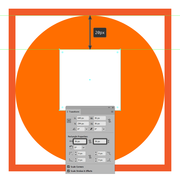 creating and positioning the main shape for the photos icons body