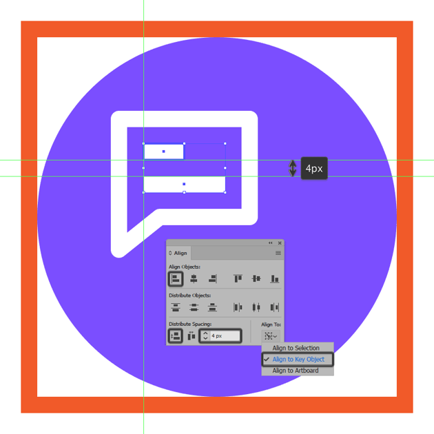 creating and positioning the second text line onto the messaging icons left text box