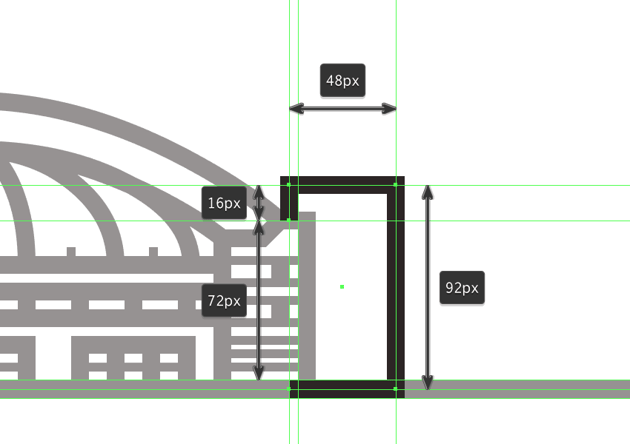 adjusting the shape of the illustrations fourth building