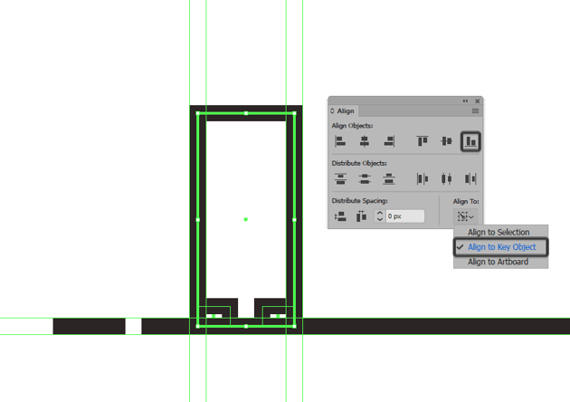 creating and positioning the bottom sections for the illustrations first building