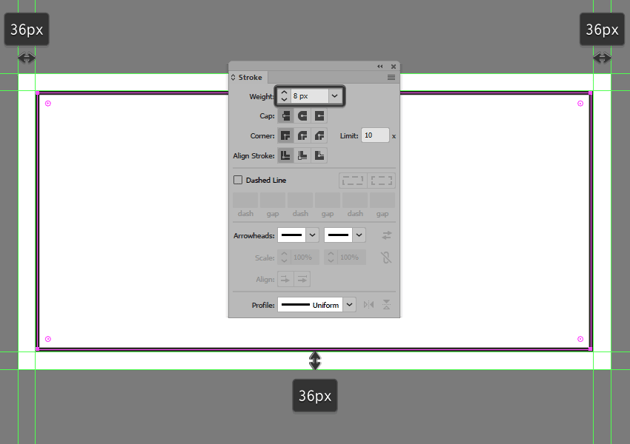 turning the illustrations frame into an outline