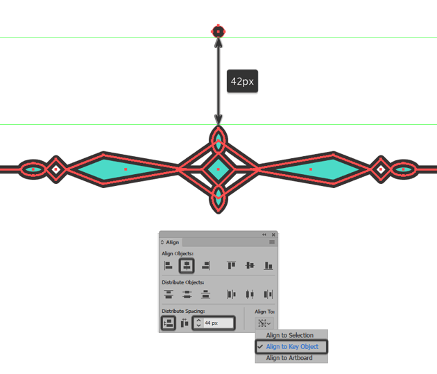 creating and positioning the main shape for the top dividers center section