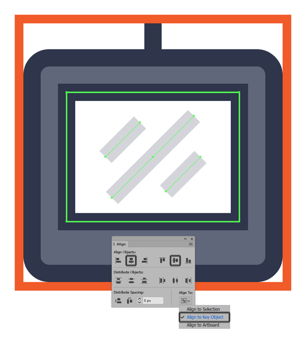 adding the reflection lines to the tablet icons display