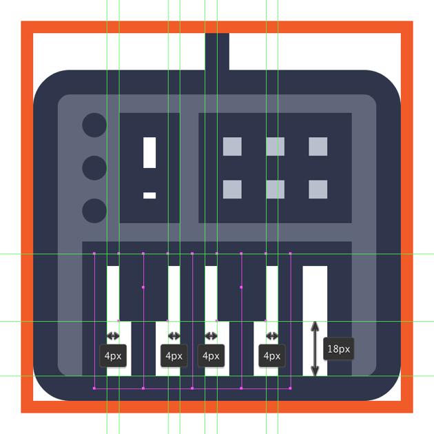 finishing off the midi controller icon