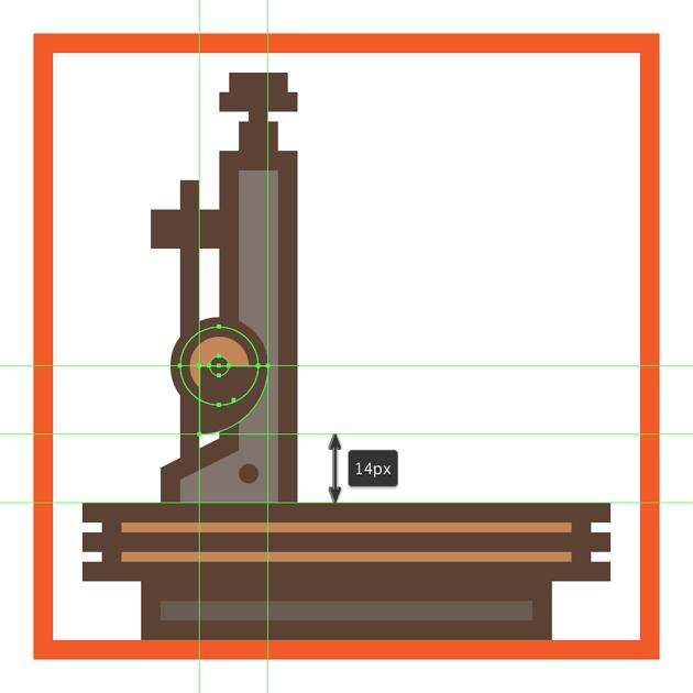 adding the hard shadow to the microscopes adjustment wheel