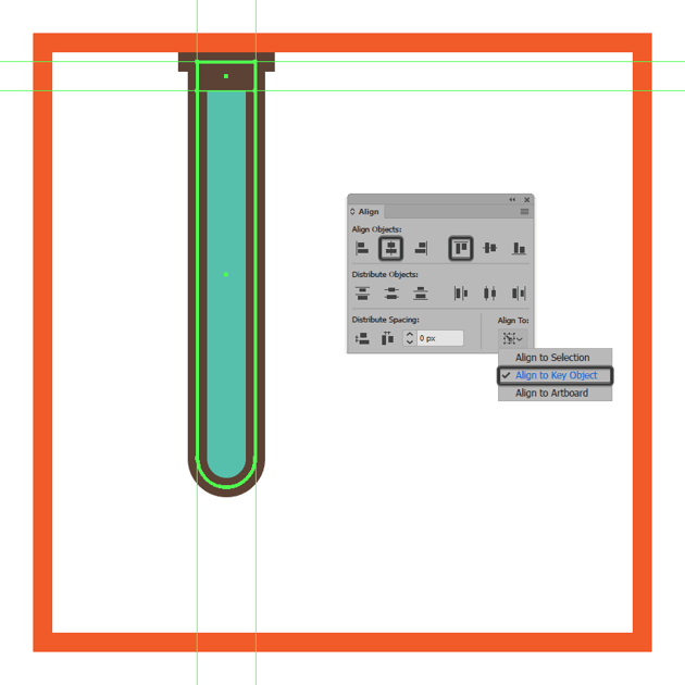 adding the hard shadow to the upper section of the glassware icons first tube