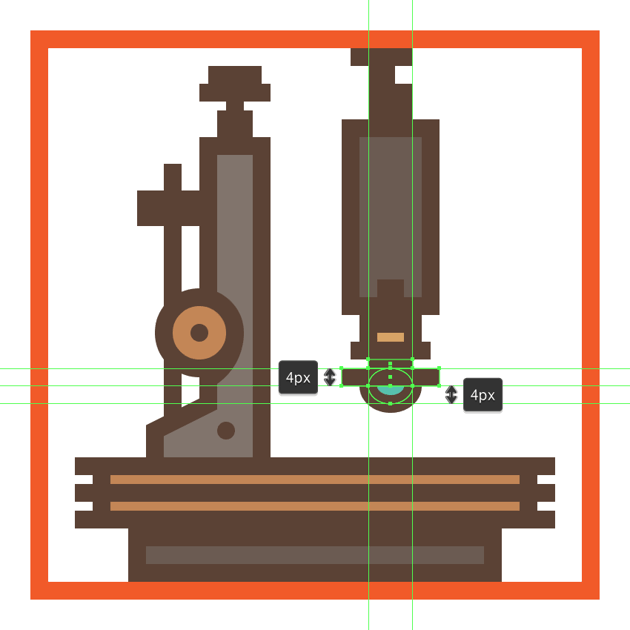 adding the lens section to the microscopes objective