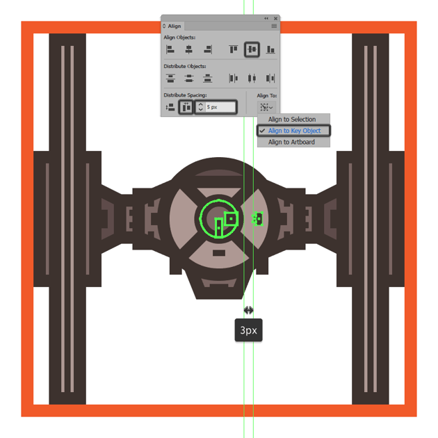 adding the final detail to the tie fighters pod