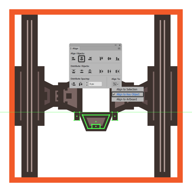 adding the ion engines to the tie fighters rear end