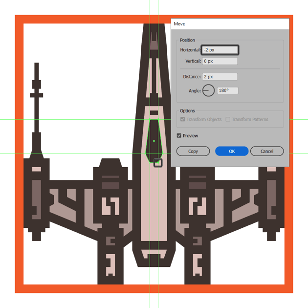 adjusting the shape of the x-wings cockpit