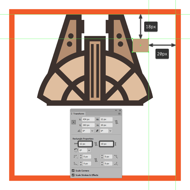 creating the main shape for the upper section of the millennium falcons cockpit