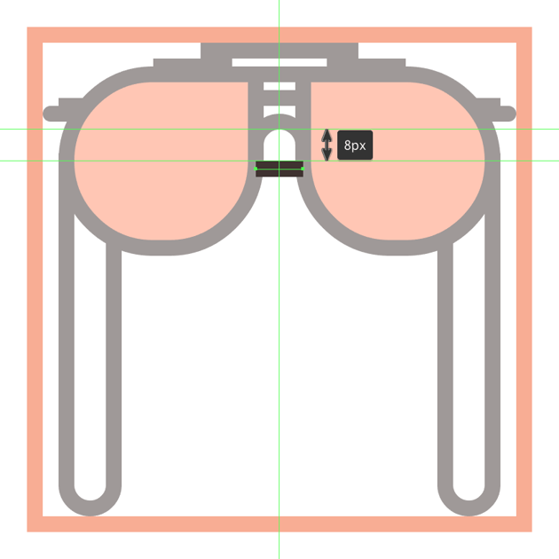 finishing off the glasses icon