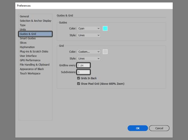 setting up a custom grid